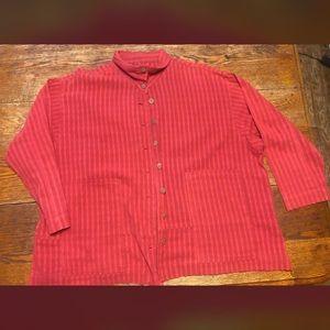 Yasuko Kurisaka 100% button up blouse